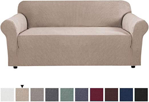 Amazon.com: High Stretch Slipcover Sofa Covers for 3 Seater Couch