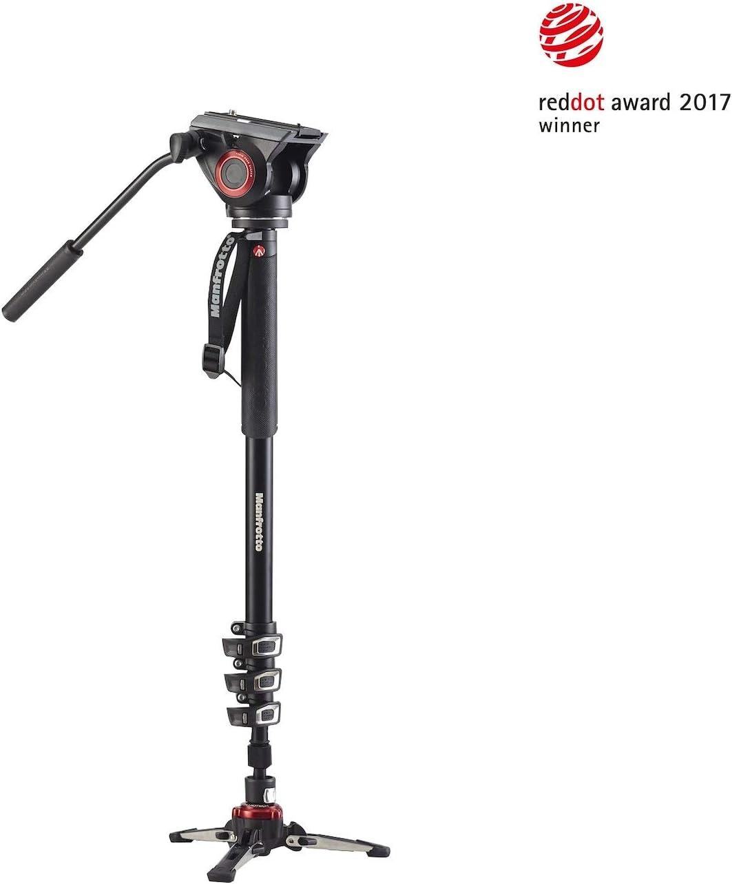 Manfrotto mvmxpro500 fluid video Alu monopie einbein trípode de vídeo