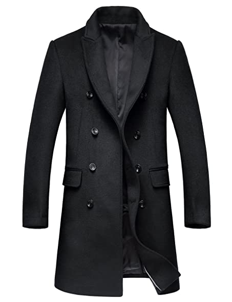 Men's Winter Coats Fashion Wool Pea Coat at Amazon Men's Clothing ...