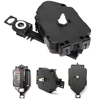 Repuesto de mecanismo de movimiento de péndulo de reloj de cuarzo para bricolaje, color negro