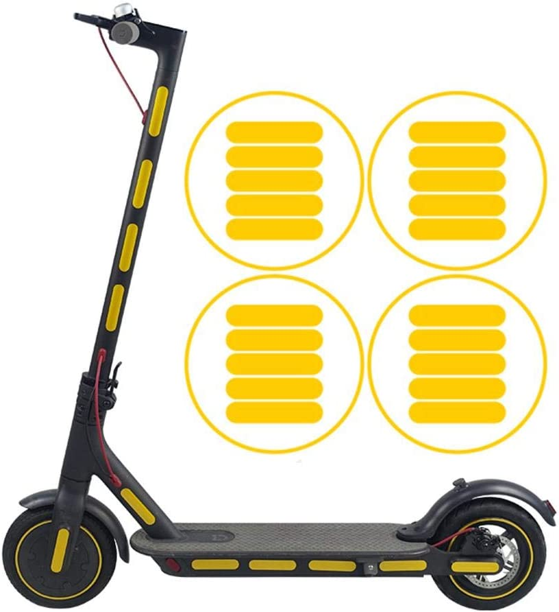 Banane - Juego de Pegatinas Reflectantes para Scooter eléctrico Xiaomi M365 Mijia M365 M187