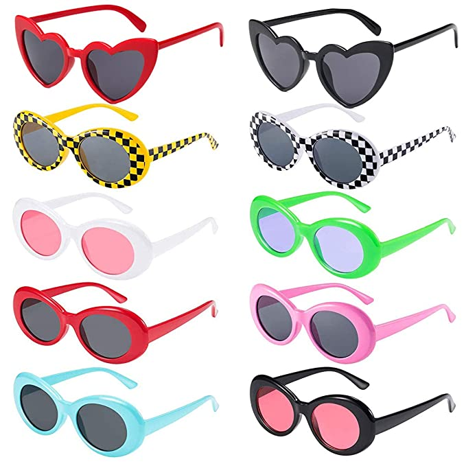 Amazon.com: Enthur 12 pares de gafas de sol retro Clout ...