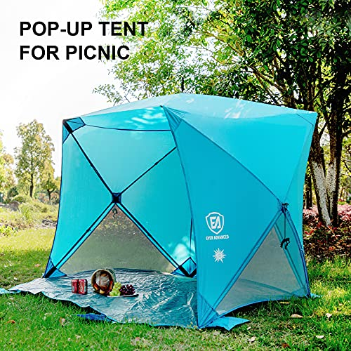 Beach Tent Shade Portable Pop up Sun Shelter with Carry Bag 2-3 Person UPF 50