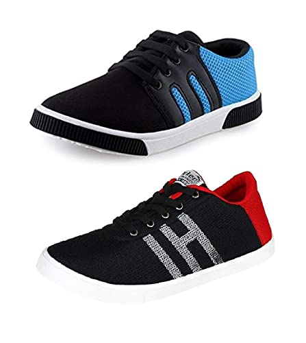 7651cc91e3ec Tempo Men s Combo Pack of 2 Sneakers Shoes  Buy Online at Low Prices in  India - Amazon.in