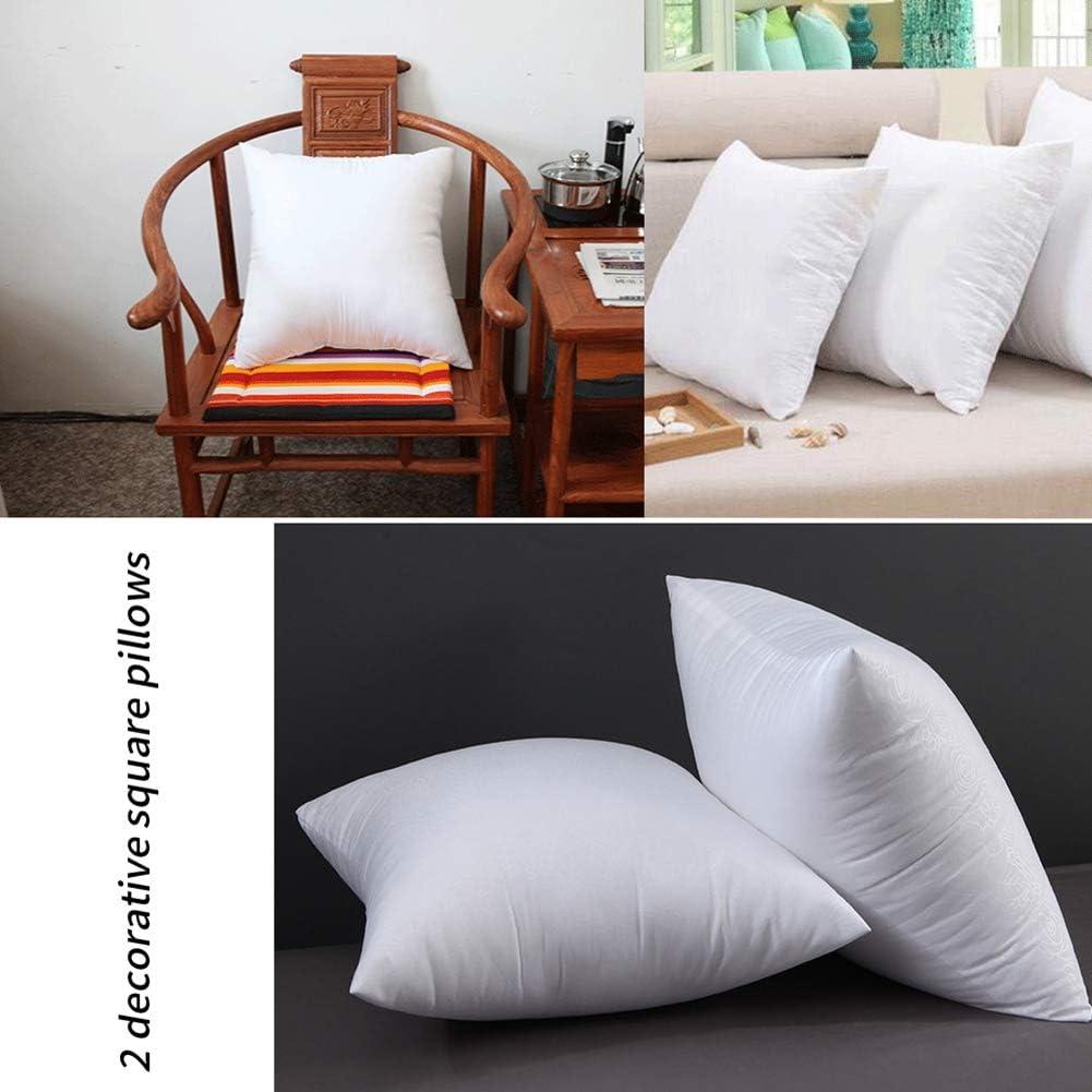 50cm JUNGEN 2Pcs Coussins de Garnissage en PP Coton Housse de Coussin Polyester Oreiller garnissage Blanc 35