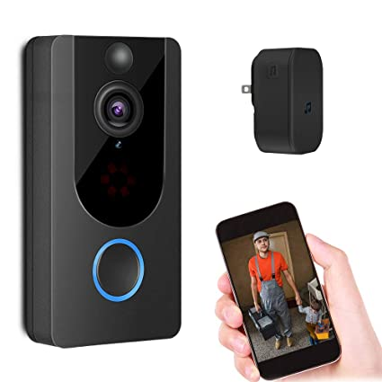UK WiFi Wireless Video Doorbell Talk Smart PIR Door Bell Security Camera HD