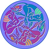 Mythical Animals - Etched Vinyl Stained Glass Film, Static Cling Window Decal