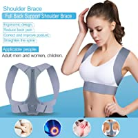 Posture Corrector for Women and Men, Adjustable Back Brace Support for Pain Relief from Neck, Back, Shoulder, Posture Trainer Correction for Thoracic Kyphosis, Spinal Alignment