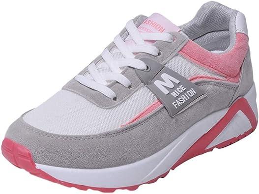 Sylar Zapatillas Deportivas Planas Mujer Running Zapatos Venta De Otoño Cosiendo Zapatillas De Cordones Suela Gruesa Zapatos De Aumento 36.5-40.5: Amazon.es: Zapatos y complementos