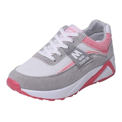 Sylar Zapatillas Deportivas Planas Mujer Running Zapatos Venta De Otoño Cosiendo Zapatillas De Cordones Suela Gruesa Zapatos De Aumento 36.5-40.5: ...