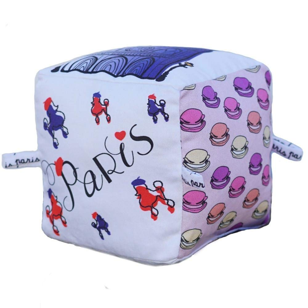 Paris City Block | Organic Toy | Eco Soft Cotton | Best Toy of the Year | Handmade in Brooklyn | Jingle Column | Rattle | Baby Blocks