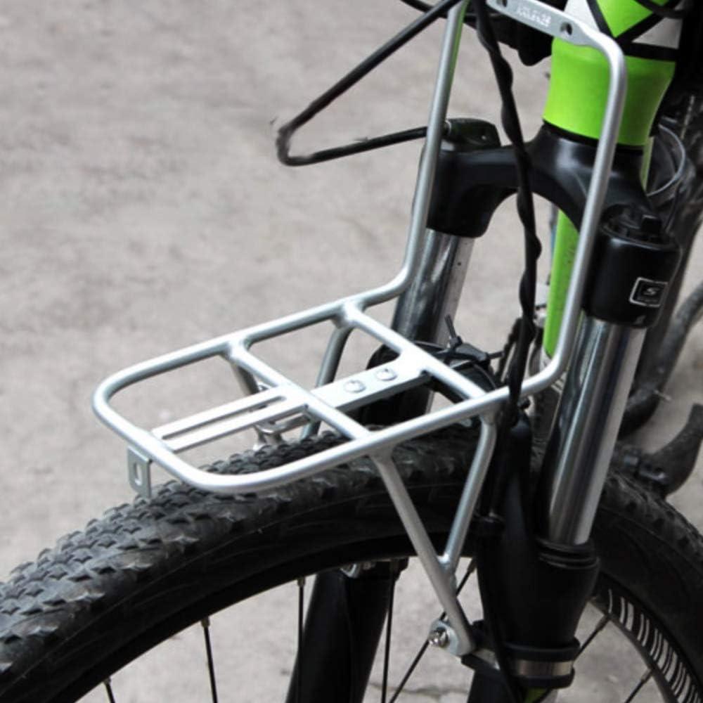 Porte-v/élos GYJ Alliage daluminium v/élo Plateau Avant Porte-Bagages Porte-Bagages sacoches Support Accessoires Cargo Racks Unisexe Noir pour Le Cyclisme