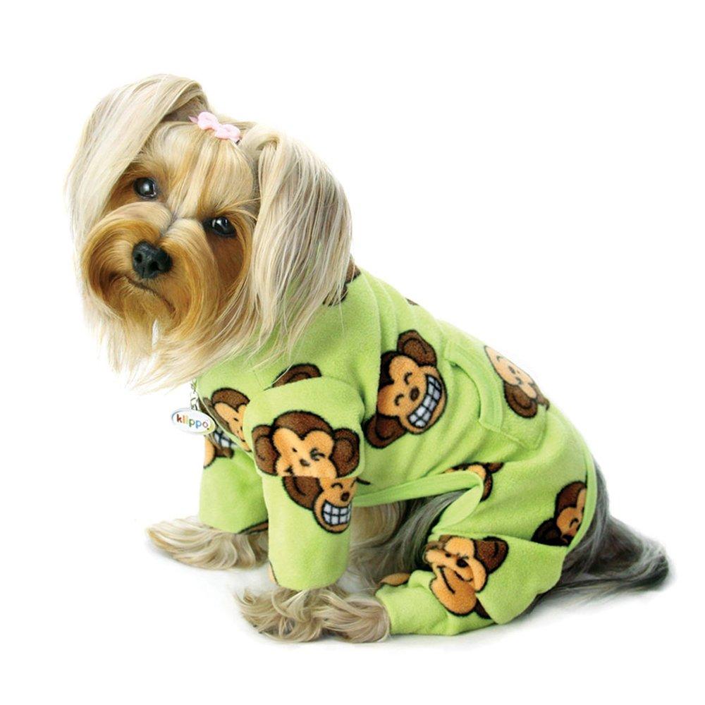 LIME XL LIME XL Silly Monkey Fleece Turtleneck Pajamas Lime X-LARGE