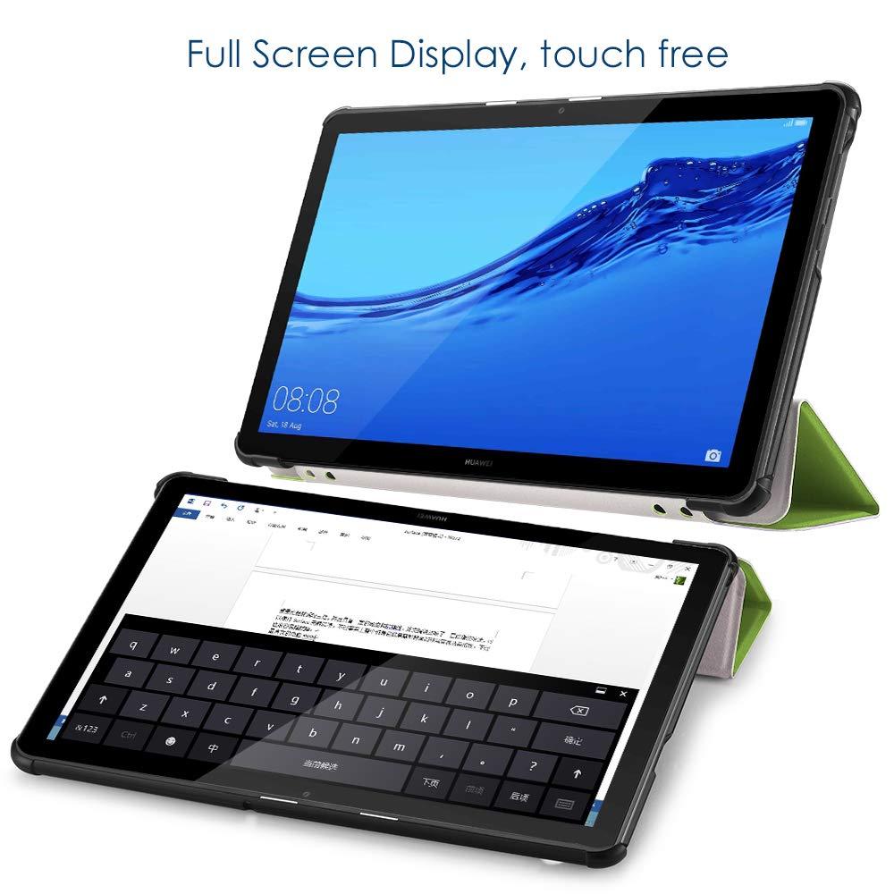 Azul 5 a/ños de garant/ía Funda Huawei Mediapad T5 10.1 Pulgadas Multi-/ángulo Cubierta Folio con el Soporte Reposo Autom/ático de Despertador Simpeak Funda para Huawei MediaPad T5 10