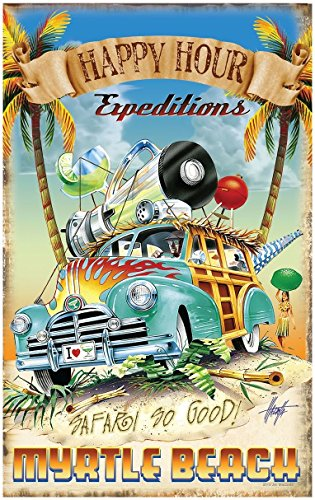 Happy Hour Expedition Myrtle Beach South Carolina Travel Art Print Poster by Jim Mazzotta (30