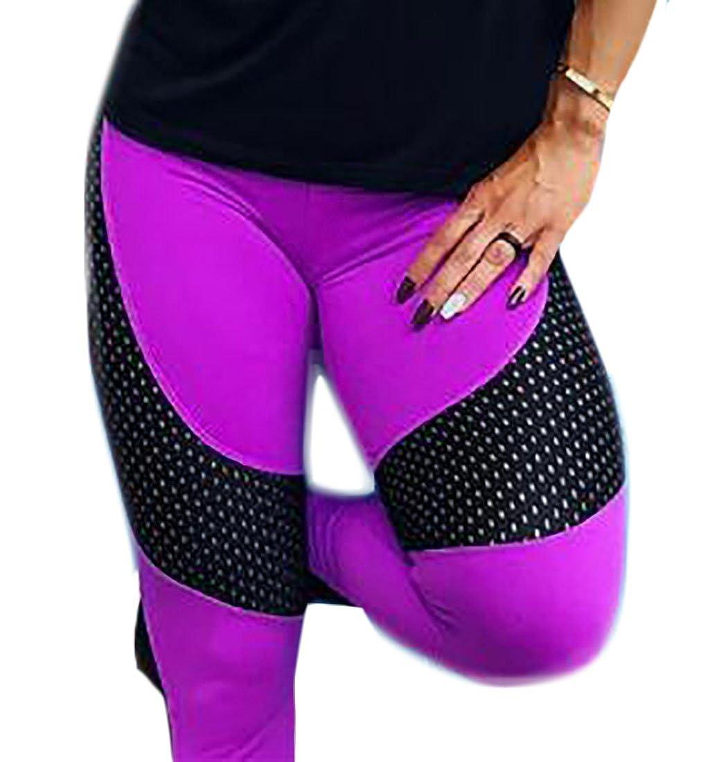 Macondoo Womens Skinny Bodycon Training Pencil Sport Splice Legging at Amazon Womens Clothing store: