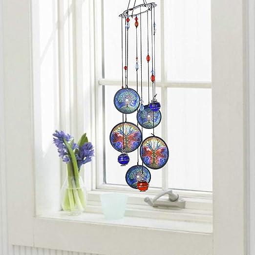 Metal Outdoor Hanging Crystal Wind Chimes Ornament Garden Indoor Home Decor NZ