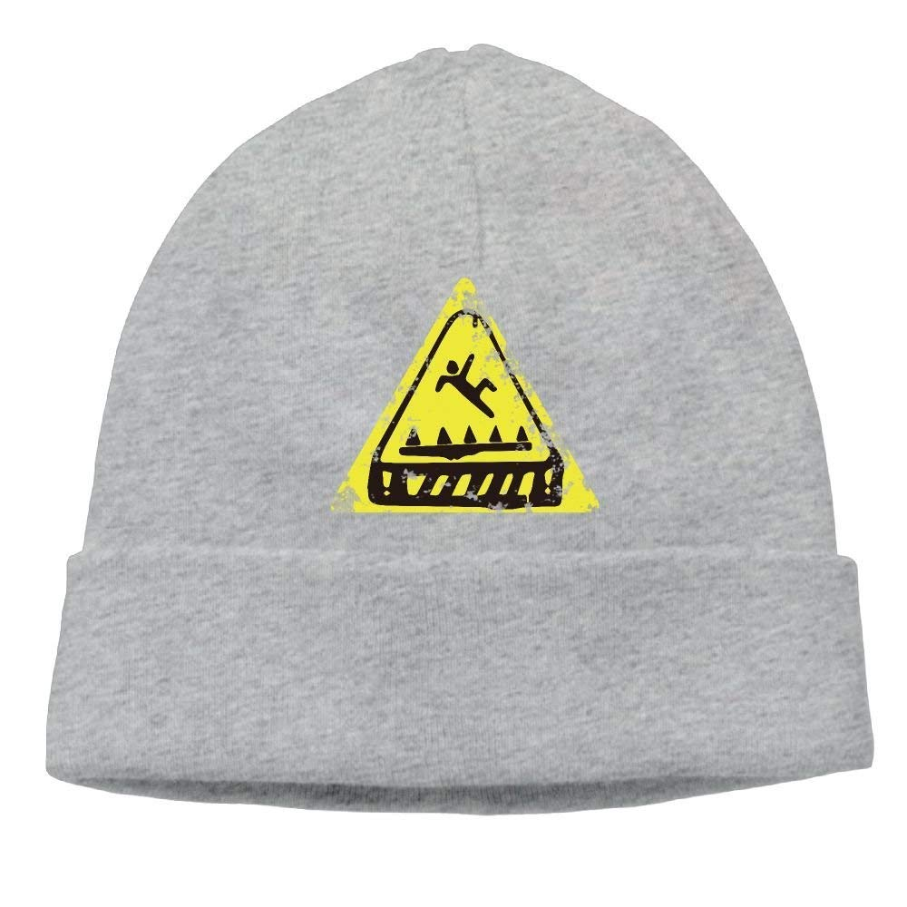 Fortnite Trap Warning Men Unisex Thick Ribbed Knitted Caps Classic Beanie Hats Yutrepler