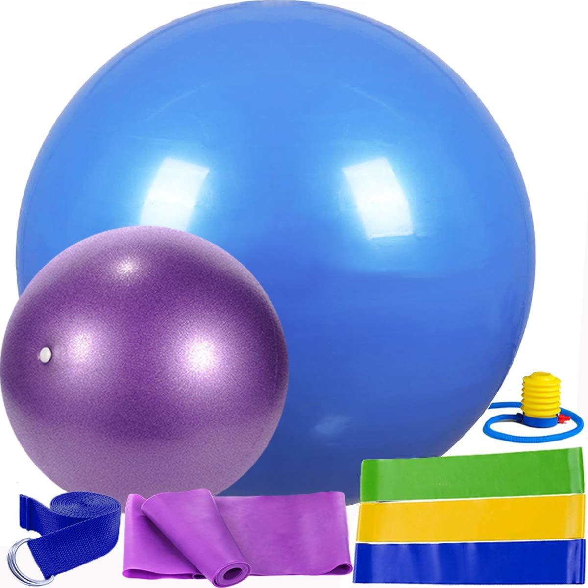 Yoga Ball Set 8 PCs 3PCs Workout Exercise Ball