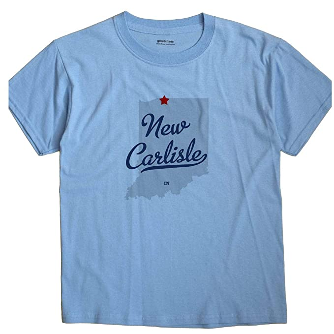 New Carlisle Indiana Map.Greatcitees New Carlisle Indiana In Map Unisex Souvenir T Shirt