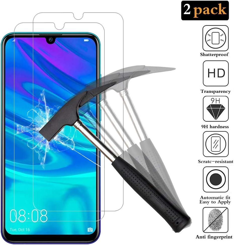 ANEWSIR [2 Pack] Protector de Pantalla para Huawei P Smart 2019/Huawei P Smart 2020 (New) Cristal Vidrio Templado Premium 9H definición.