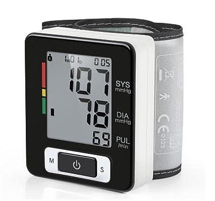 Monitor de Presión Arterial de la Muñeca, Probador Automático de BP Digital con Gran LCD