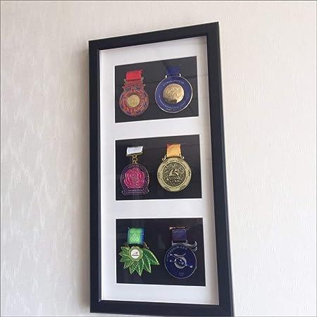 Caja expositora Insignias Caja exhibición medallas Marco Fotos Original Tipo Caja Madera con Cristal y Paspartú Cuadro Profundo para meter Objetos colección Objeto 3D,medallas Negro medallas,Modelos: Amazon.es: Hogar