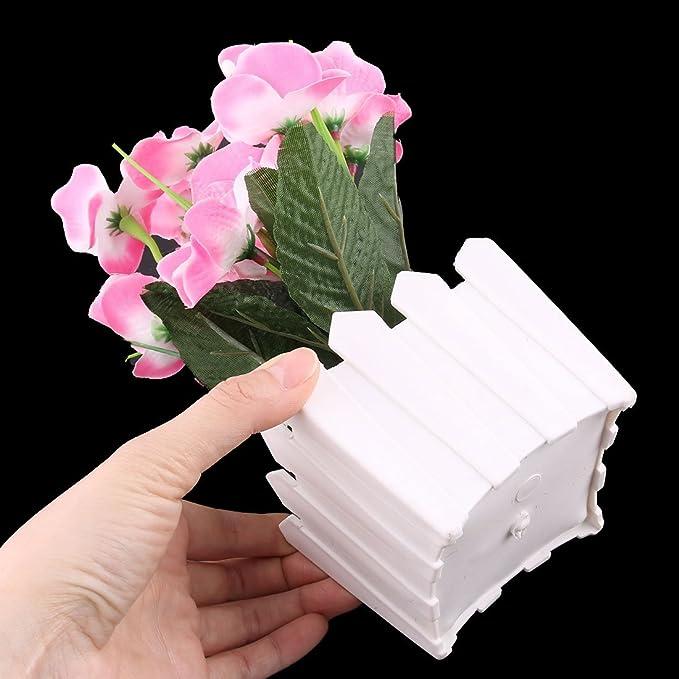 Amazon.com: eDealMax plástico maceta Home Office Coffee Shop de Emulational Flor Artificial decorativa: Home & Kitchen