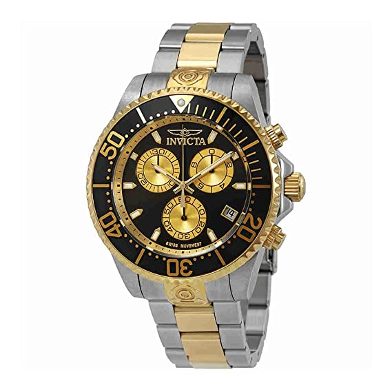 Invicta Pro Diver Reloj de hombre cuarzo suizo correa y caja de acero 26850
