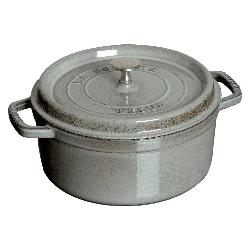 Staub 1102618 Round Cocotte, 5.5 quart, Graphite Grey