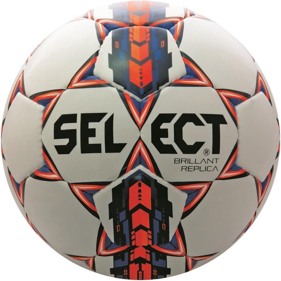 Select Brilliant Super Réplica de balón de fútbol, Color Blanco ...