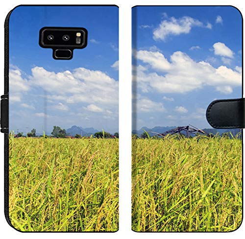 (Samsung Galaxy Note 9 Flip Fabric Wallet Case Image ID: 29790838 Cereals and Sky Roads of Laos Khammouane Province)