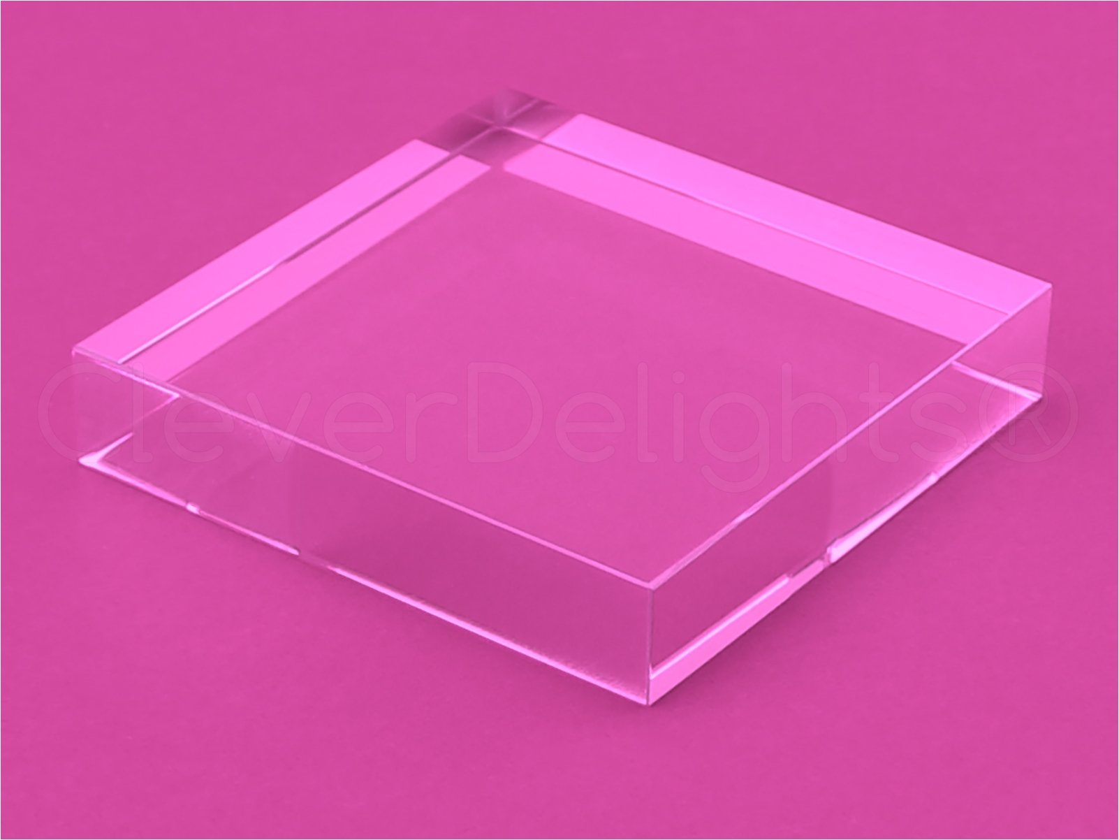 10 Pack - CleverDelights 3 Inch Square Glass Tiles - Clear Solid Glass Tiles - 3'' x 3'' x 5/8'' Thick by CleverDelights (Image #3)