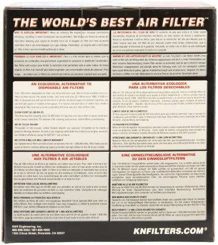 Universal Air Filters 4-15//16B RC-9160 K/&N Universal Clamp-On Air Filter 3-1//8FLG 3-1//2T 4-3//8H