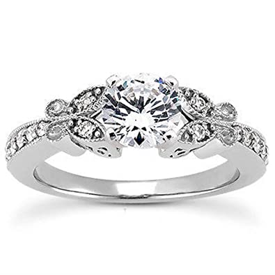 Silvernshine Jewels 1 Ct Diamond Halo Solitaire W/Accents Engagement Ring In 14k White Gold Fn 925 jlzHQNGGpU