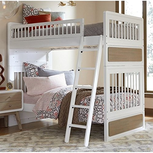 UPC 796995123410, NE Kids East End Jet Twin over Twin Bunk Bed in White and Taupe