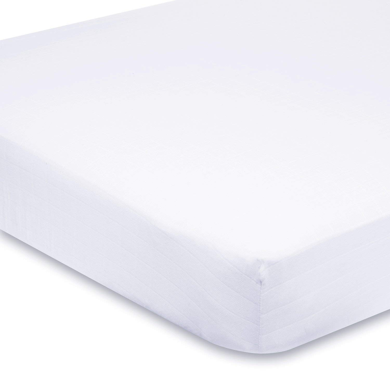 SRP Linen - 400 Thread Count 100% Egyptian Cotton 10' Deep Pocket 1 PC Fitted Sheet, King Size, Solid White SRP Linen Mercantile Pvt. Ltd.