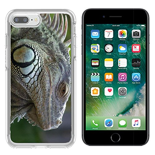 Luxlady Apple iPhone 7/8 Clear case Soft TPU Rubber Silicone Bumper Snap Cases iPhone7/8 IMAGE ID 5090750 Iguana in Zurich Zoo - Images Zurich