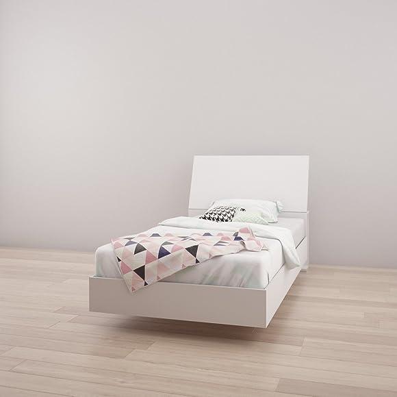 Nexera Twin Size Platform Bed Bundle 400722