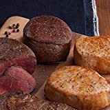 Gourmet Foods, Beef & Pork Duet, Four 6 oz. Beef Filet Mignons Four 6 oz. Colony-Cut Boneless Pork Chops