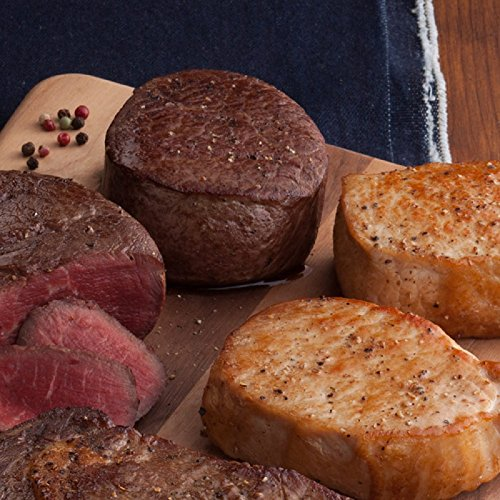 Gourmet Foods, Beef & Pork Duet, Four 6 oz. Beef Filet Mignons Four 6 oz. Colony-Cut Boneless Pork Chops by Unknown