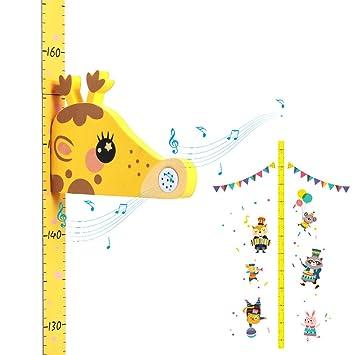 Supoggy Tabla de Altura de Crecimiento del Bebé/Medidor de Altura para Niños, Lienzo y Madera que Cuelgan la Regla de Pared Extraíble para Niños, ...