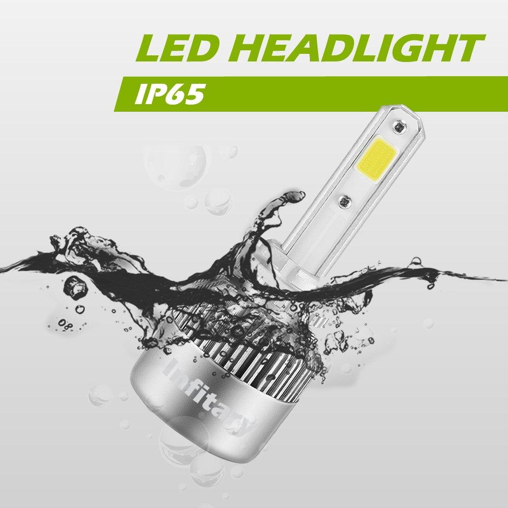 1 Pair-3 Year Warrenty Infitary LED Headlight Bulbs H27//880//881 Conversion Kits Car LED Headlights 72W//Pair 6500K 10000LM Extremely Super Bright COB Chips