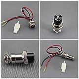 12V 24V 36V Battery Charger 3 Prong for Gas Electric Scooter Razor &Female Plug