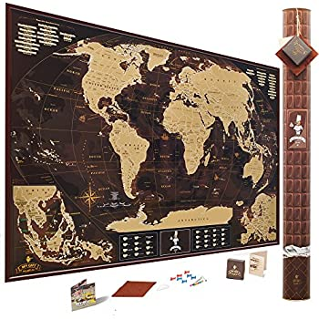 Amazoncom Travel Scratch Off Map of the World with outlined US