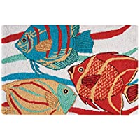C&F Home Hooked South Seas Tropical Rug, Red
