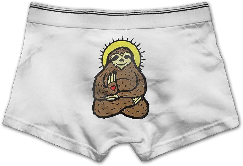 YISHOW Funny Buddha Sloth Mens Seamless Boxer Brief Breathable Underwear
