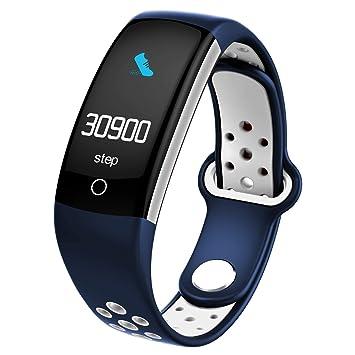 Qimaoo - Reloj Inteligente Deportivo con Monitor de presión Arterial de frecuencia cardíaca, Monitor de