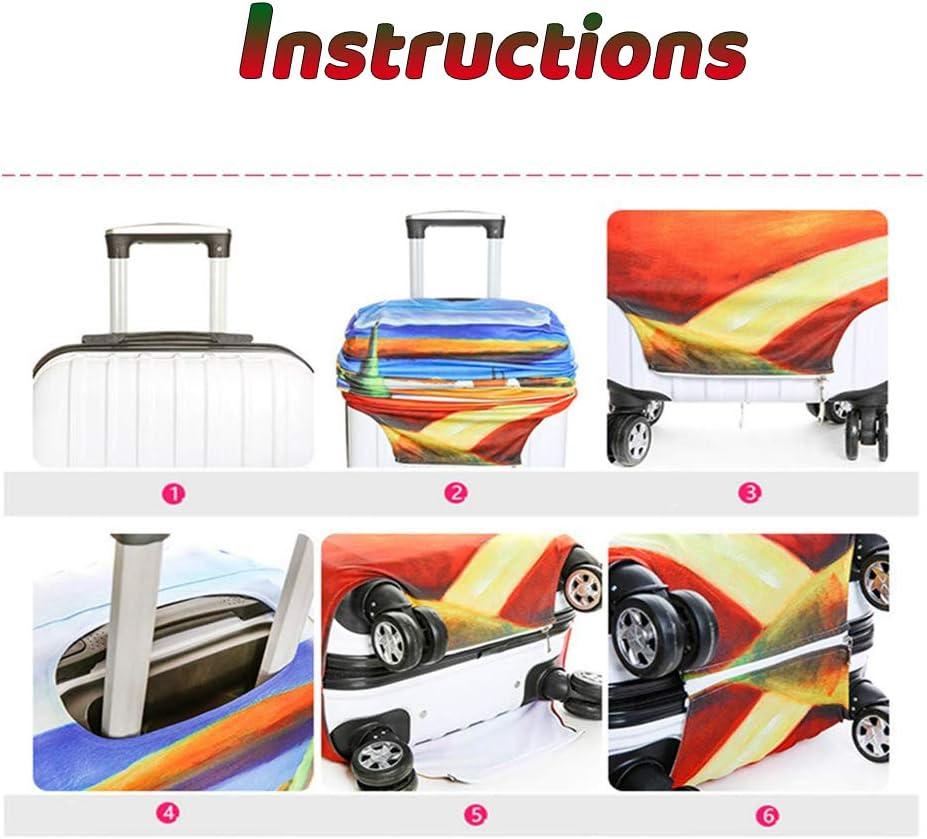 Housse de Valise Cover en Polyester Chickwin Casual Imprim/é en Tissu Elastique Unique Voyager Luggage Protecteur Couverture Bagages de18 /à32Pouces Ananas,S 18-21