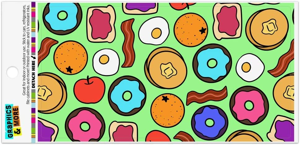 Graphics and More Fun Breakfast Foods Pattern Automotive Car Refrigerator Locker Vinyl Magnet